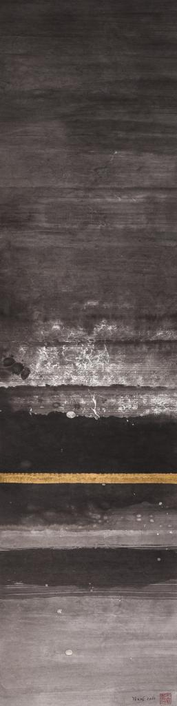 Ink on paper. 132 x 33.5 cm