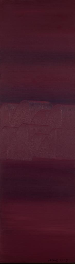Oil on canvas. 162 x 47 cm