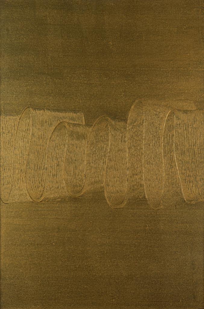Oil and acrylic on canvas. 100 x 80