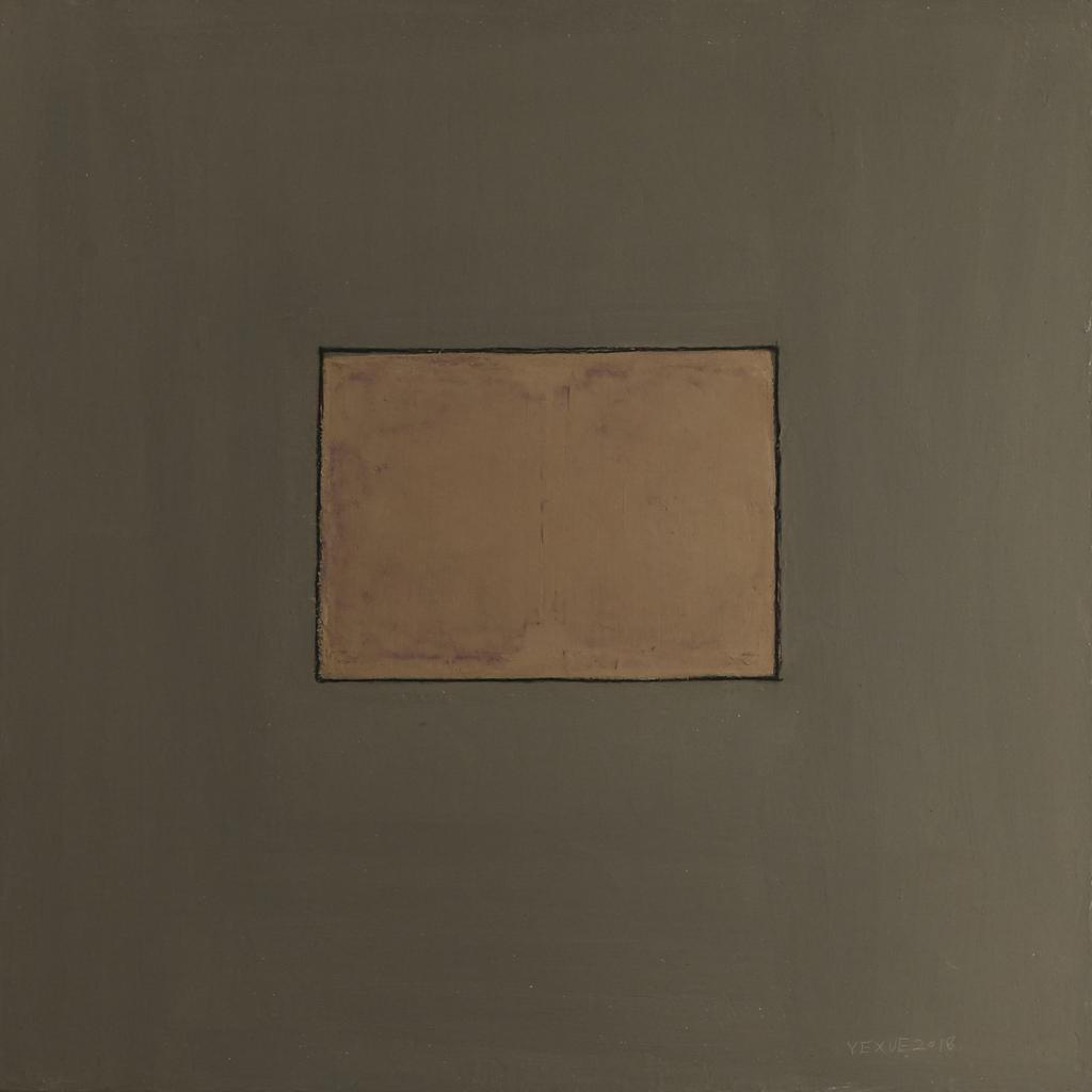 Clay, oil, acrylic and pencil on canvas. 100 x 140 cm